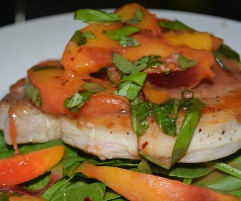 pork chops recipe and Peaches   Easy Dinner Recipe