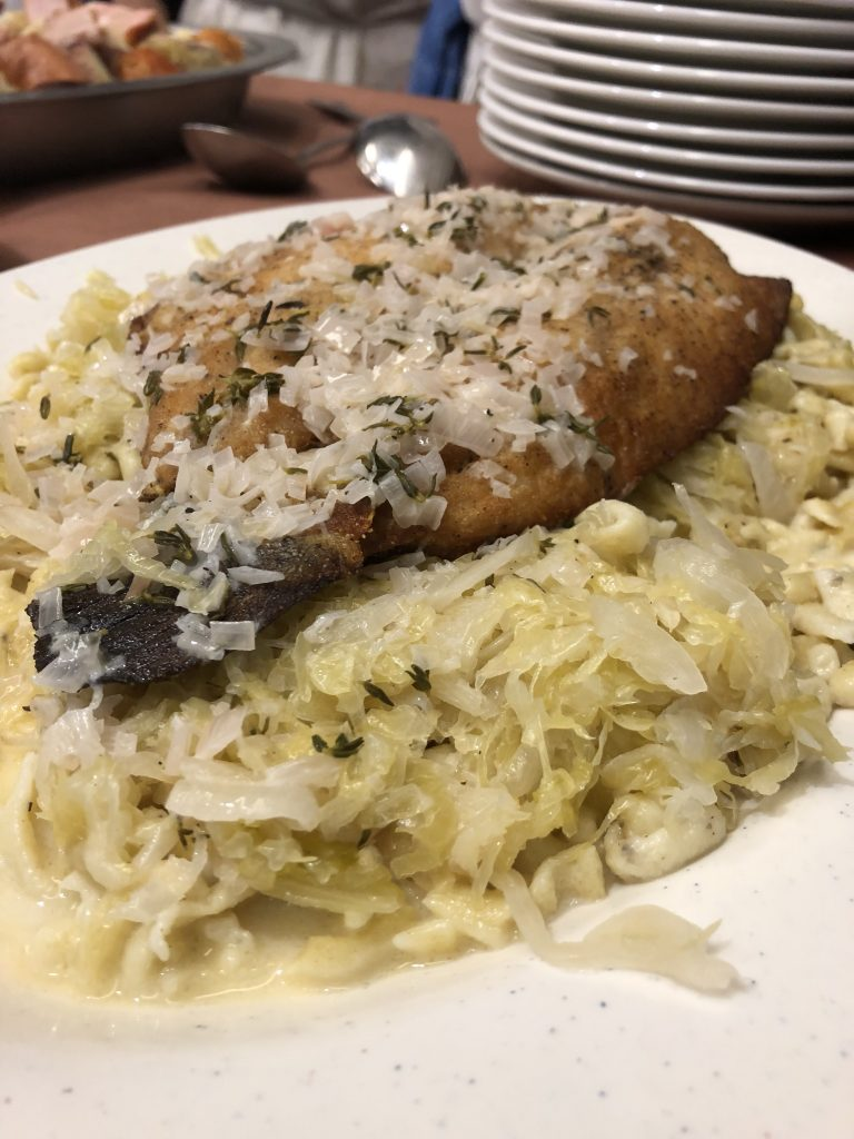 Trout with Spaetzle